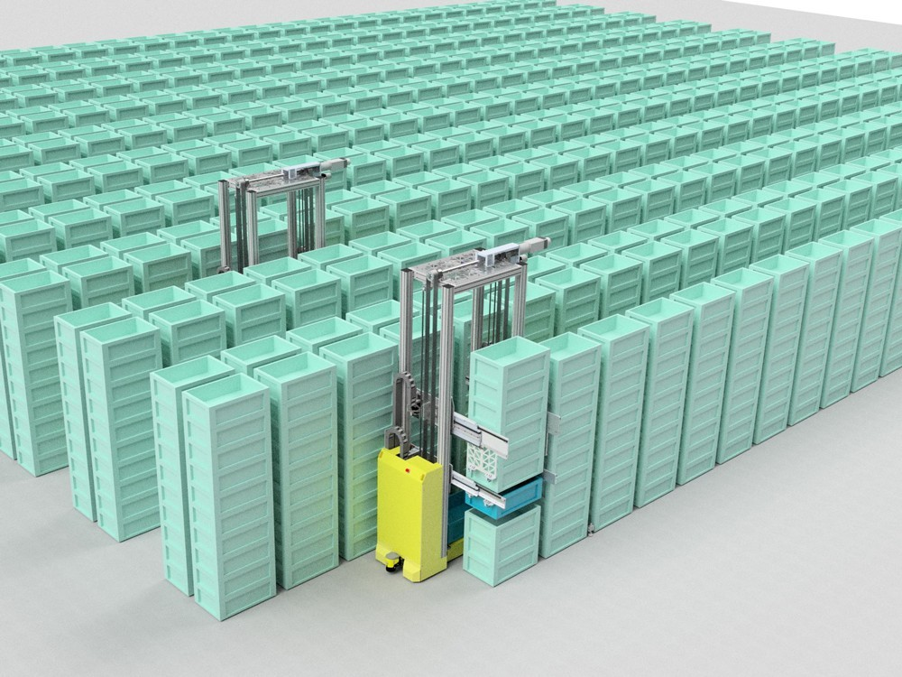 Fraunhofer IML zeigt SAM � die �Stack Access Machine�