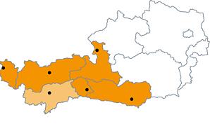 Stapler in den Bundesl�ndern Vorarlberg, Tirol, Salzburg