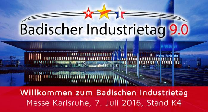 LifePowertec auf dem 9. Badischen Industrietag, 7. Juli 2016 Messe Karlsruhe, Stand K4 mit BYD IFOY Winner ECB18C