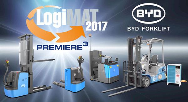 LogiMAT2017-Neuheiten: BYD Stapler und Lagertechnik Premiere Hoch3 - LifePowertec Schwanau