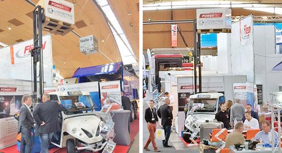 News: Powertec präsentierte BYD Elektrostapler und ALKE Elektrofahrzeuge auf NUFAM Karlsruhe.