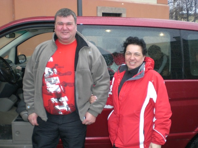 big boss Imre and wife Livia skiing in Cavalese - 2009