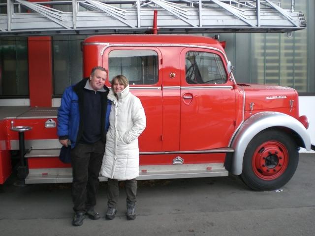Fa.PFLANZ mit historischem MAGIRUS-DEUTZ-Leiterwagen