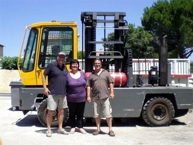 Auslieferung BAUMANN DX40 an unseren Kunden PARTNER Menusières in Montpellier (Süd-Frankreich) im Juli 2010