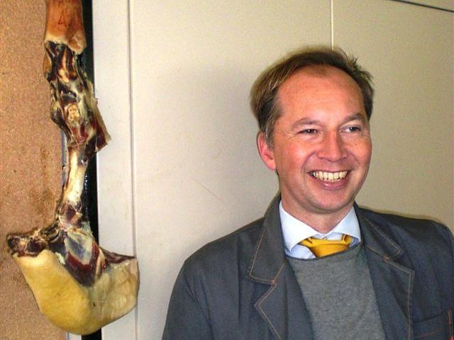 Frank Krumbiegel ist Fan von STILL und dem Jamón Ibérico aus dem schwarzen, iberischen Schwein.