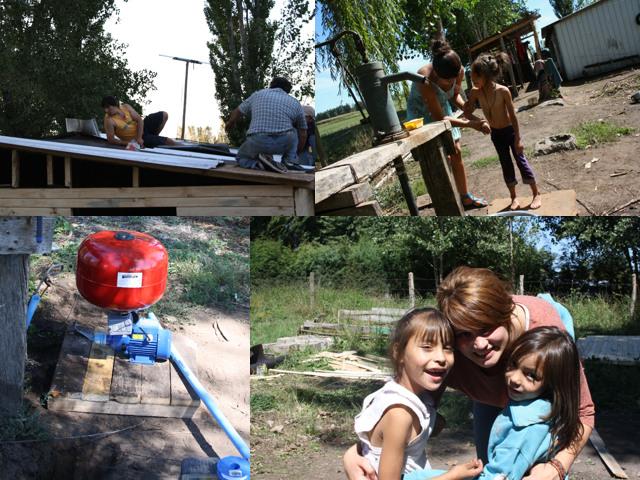 Wir hatten im Februar von einer Hilfsaktion meiner Nichte Jordis Troost berichtet, die nach Chile gereist ist, um einer armen Familie mit z.T. behinderten Kindern die Lebensumstände zu verbessern. Sie ist nun zurück und schickt mir die Fotos in der Anlage. Es ist Jordis nach zähen 5-wöchigen Verhandlungen mit dem örtlichen Stromversorger gelungen, eine Stromleitung zu der Familie legen zu lassen. Es wurde ein Holzanbau gebaut, der als Schlafraum/Badezimmer genutzt werden wird. Denn die Familie schlief bisher in einem Zimmer und wusch sich, sofern Wasser verfügbar war, bisher im Freien. Was für uns Normalität ist, löste dort große Freude und Dankbarkeit aus ! Von den Spendengeldern konnte auch die Wasserpumpe angeschafft werden. Allen Spendern ein herzliches : Vergelt's Gott !
