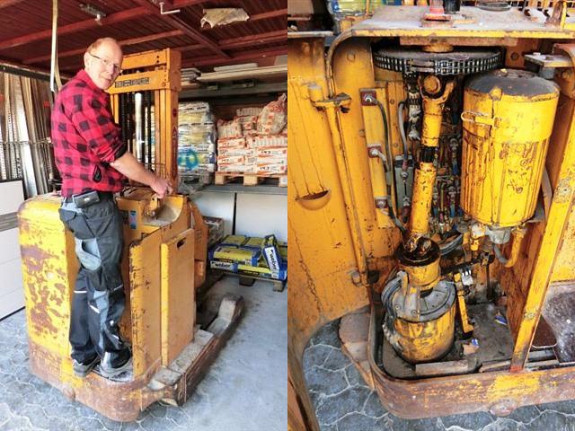 Der Kunde Hinterkopf-Fliesenhandel hat bisher mit einem 50 Jahre alten JH-Retrak gearbeitet. Wir konnten ihm im Oktober 2012 einen STILL R20 liefern und den Retrak einem musealen Zweck zuführen.