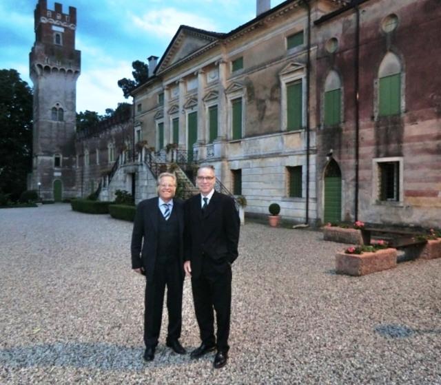 Treffen mit Oliver Bachmann (Zeitschrift STW) in der Villa Gritti im Veneto