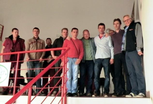 beim Händlertreffen/Schulung in Brno (CZ) im Oktober 2013