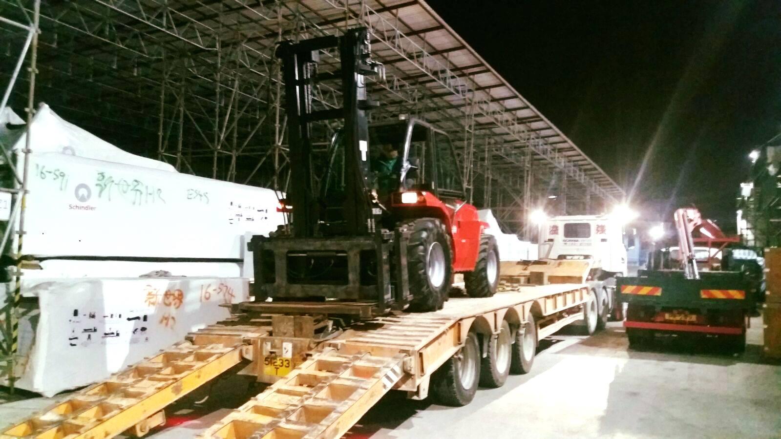 Manitou Geländestapler MC70 nach Hong Kong