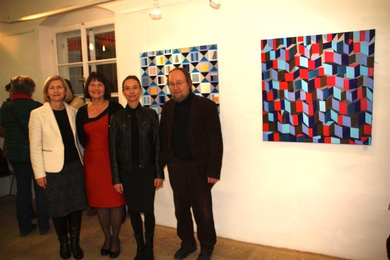 V.l.: Stadträtin Brigitte Pollik-Will, KGV-Vorsitzende Erika Schwitulla, Künstlerin Sandra Huber, Walter Wanninger