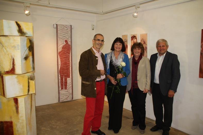 Laudator Dr. Stefan Rammer, KGV-Vorsitzende Erika Schwitulla, Rosemarie Wurm und Bürgermeister Georg Krenn (v.l.)