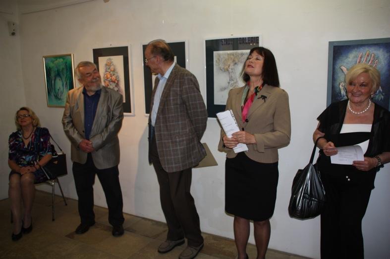 Künstler Hans Brielmayer, Laudator Dr. Herbert Bögl und KGV-Vorsitzende Erika Schwitulla (v.l.)