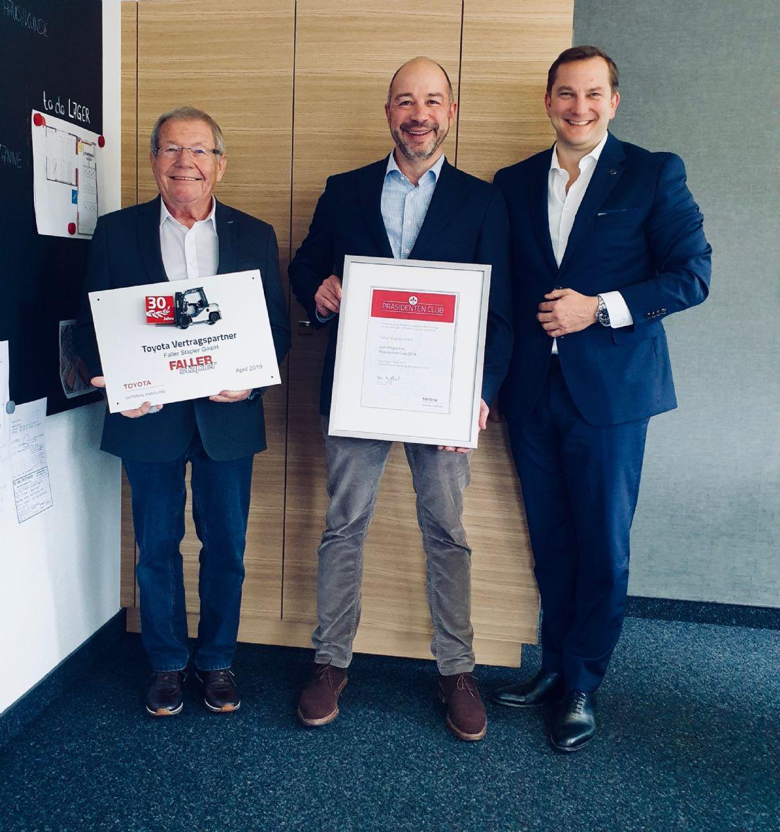 30 Jahre Partner: Toyota und Faller Stapler