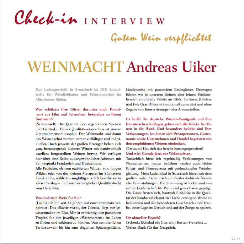 Interview Andreas Uiker