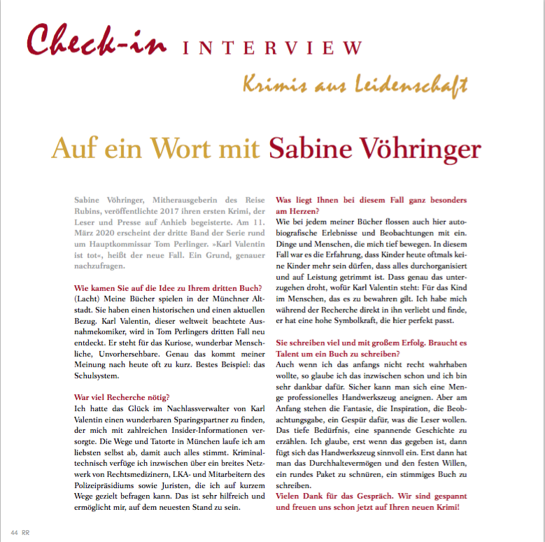 Interview Sabine Vöhringer