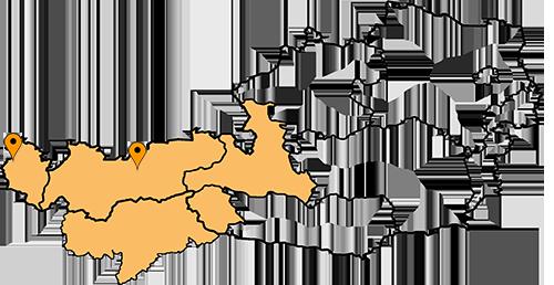 Stapler in den Bundesländern Vorarlberg, Tirol, Salzburg