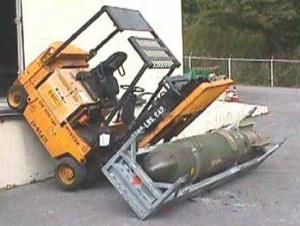 Viele Gabelstapler-Unfälle ließen sich vermeiden