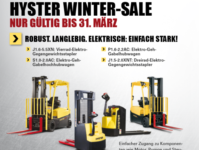 HYSTER WINTER SALE